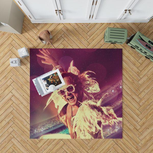 RocketMan Movie Taron Egerton Rocketman Bedroom Living Room Floor Carpet Rug 1