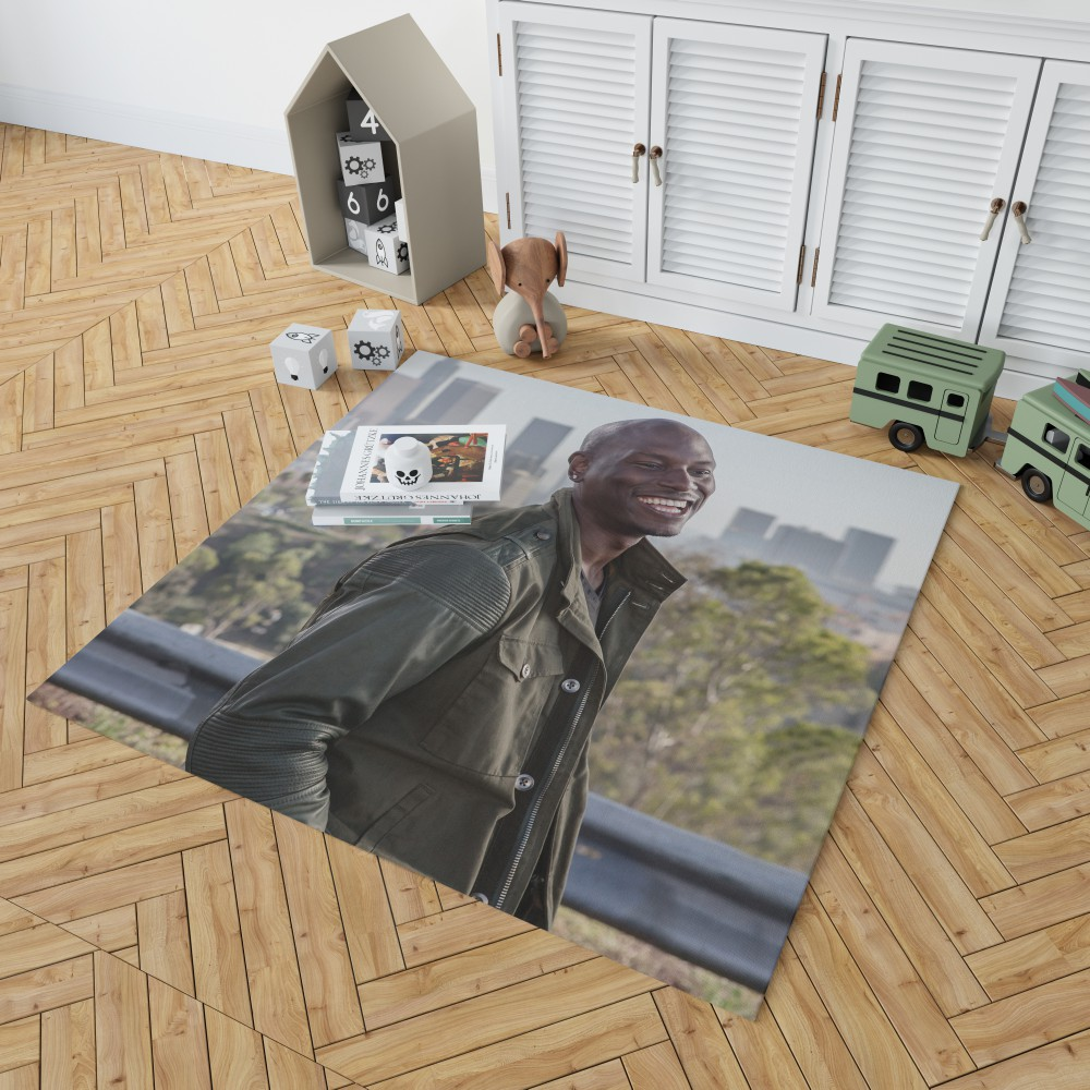 Roman Pearce Tyrese Gibson in Furious 7 Fast & Furious Bedroom Living Room  Floor Carpet Rug   EBeddingSets