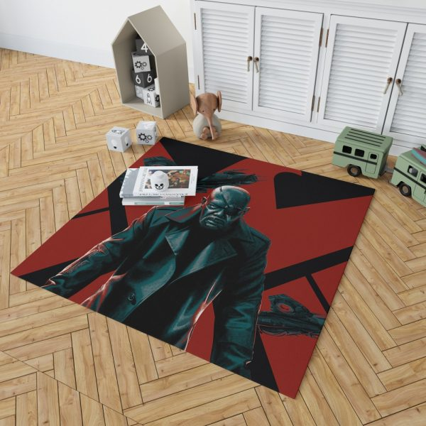 Samuel L Jackson Nick Fury Marvel Comics Bedroom Living Room Floor Carpet Rug 2