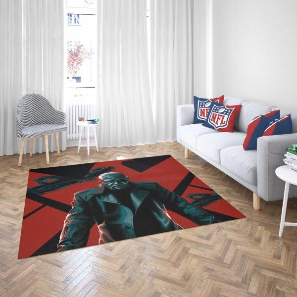 Samuel L Jackson Nick Fury Marvel Comics Bedroom Living Room Floor Carpet Rug 3