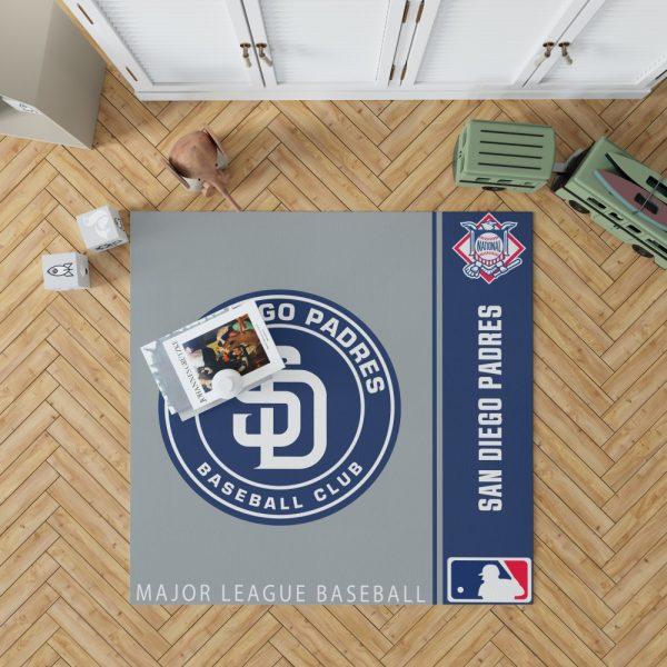 San Diego Padres MLB Baseball National League Floor Carpet Rug Mat 1