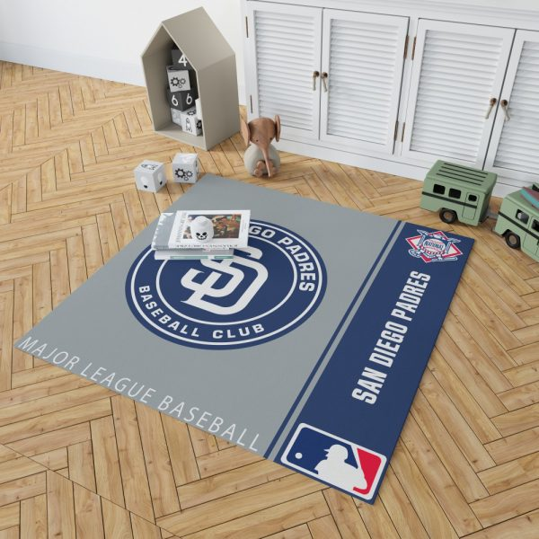 San Diego Padres MLB Baseball National League Floor Carpet Rug Mat 2