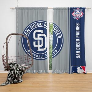 San Diego Padres MLB Baseball National League Window Curtain