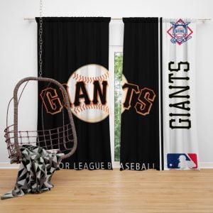 San Francisco Giants MLB Baseball National League Window Curtain