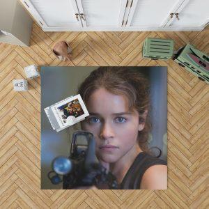 Sarah Connor Emilia Clarke in Terminator Genisys Movie Bedroom Living Room Floor Carpet Rug 1