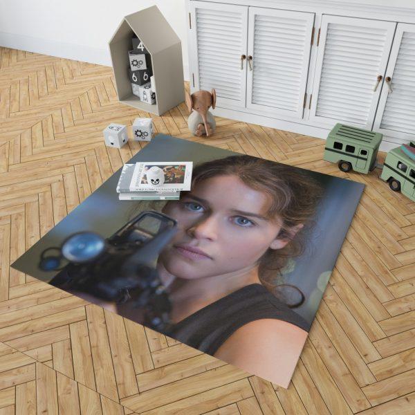 Sarah Connor Emilia Clarke in Terminator Genisys Movie Bedroom Living Room Floor Carpet Rug 2