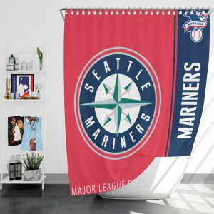 Seattle Mariners MLB Baseball American League Bath Shower Curtain