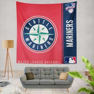 Seattle Mariners MLB Baseball American League Wall Hanging Tapestry