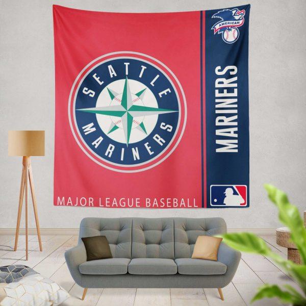 Seattle Mariners MLB Baseball American League Wall Hanging Tapestry