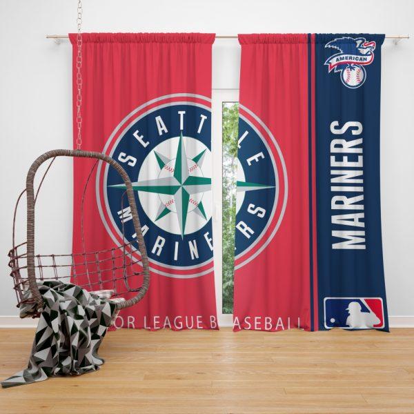 Seattle Mariners MLB Baseball American League Window Curtain