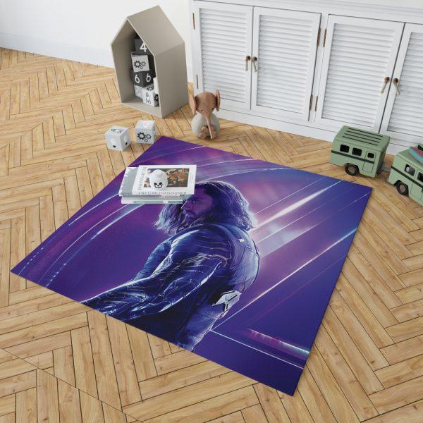 Sebastian Stan Bucky Barnes White Marvel Avenger Bedroom Living Room Floor Carpet Rug 2