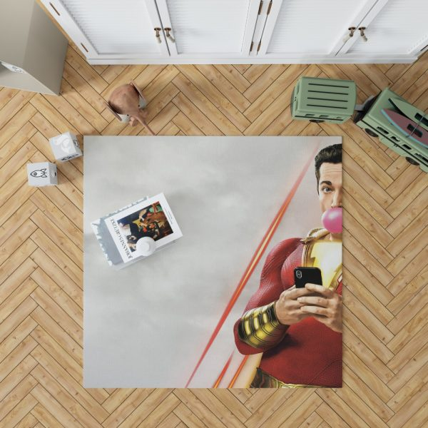Shazam! Movie Bubble Gum Shazam DC Comics Zachary Levi Bedroom Living Room Floor Carpet Rug 1