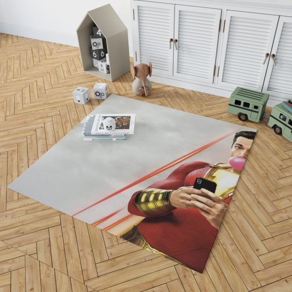 Shazam! Movie Bubble Gum Shazam DC Comics Zachary Levi Bedroom Living Room Floor Carpet Rug 2