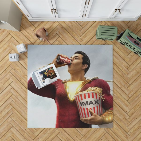 Shazam! Movie DC Comics Zachary Levi Bedroom Living Room Floor Carpet Rug 1