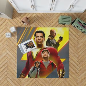 Shazam Movie DC Comics Zachary Levi Mark Strong Bedroom Living Room Floor Carpet Rug 1
