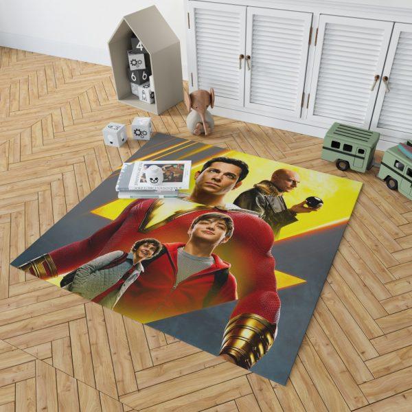 Shazam Movie DC Comics Zachary Levi Mark Strong Bedroom Living Room Floor Carpet Rug 2