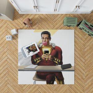 Shazam Movie Zachary Levi DC Bedroom Living Room Floor Carpet Rug 1