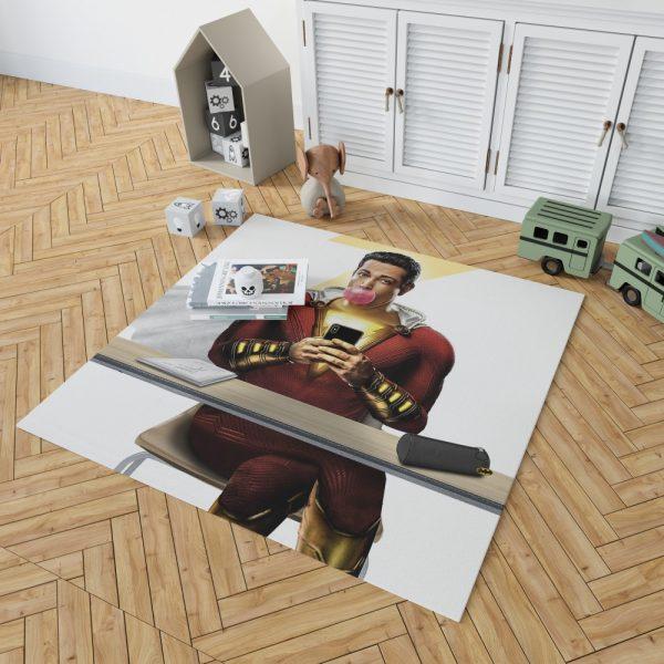 Shazam Movie Zachary Levi DC Bedroom Living Room Floor Carpet Rug 2