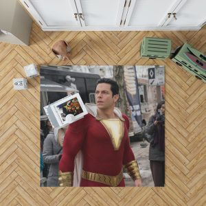 Shazam Movie Zachary Levi Jack Dylan Grazer Bedroom Living Room Floor Carpet Rug 1