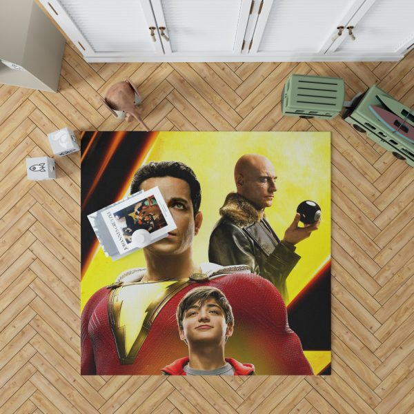 Shazam Movie Zachary Levi Mark Strong Asher Angel Bedroom Living Room Floor Carpet Rug 1