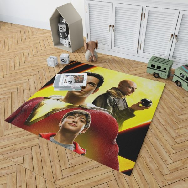 Shazam Movie Zachary Levi Mark Strong Asher Angel Bedroom Living Room Floor Carpet Rug 2