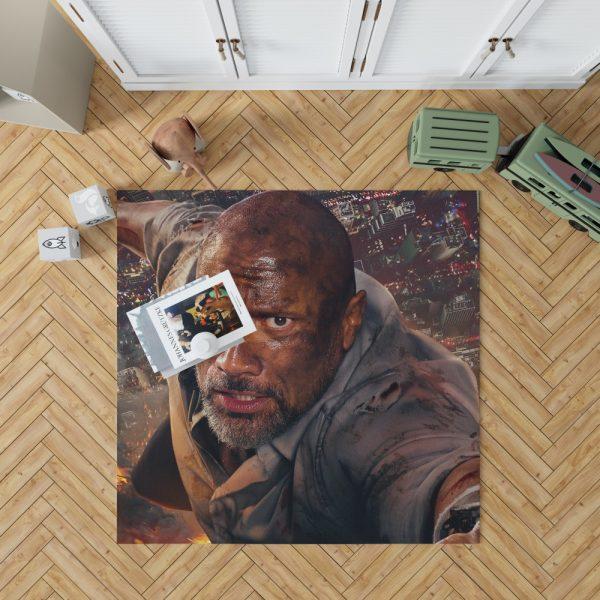 Skyscraper Movie Dwayne Johnson Bedroom Living Room Floor Carpet Rug 1