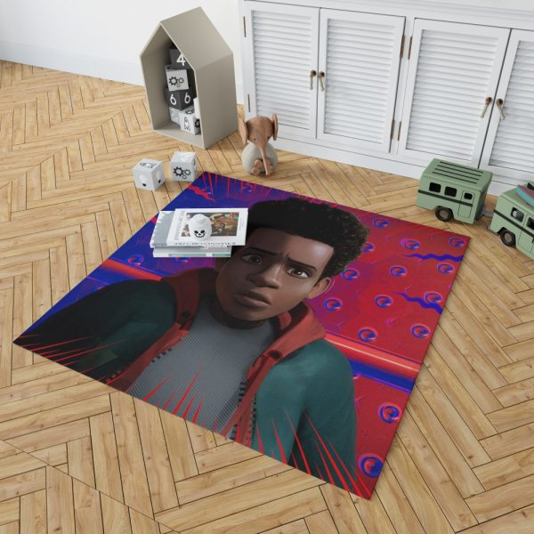 Spider-Man Into The Spider-Verse Movie Avenger Spider Universe Bedroom Living Room Floor Carpet Rug 2