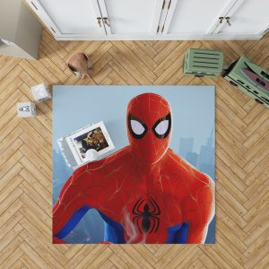 Spider-Man Into The Spider-Verse Movie MCU Bedroom Living Room Floor Carpet Rug 1