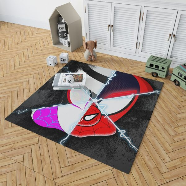Spider-Man Into The Spider-Verse Movie Marvel Cinematic Universe Bedroom Living Room Floor Carpet Rug 2