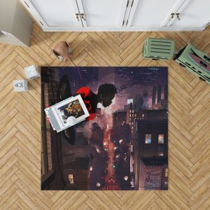Spider-Man Into The Spider-Verse Movie Marvel Comics Miles Morales Bedroom Living Room Floor Carpet Rug 1