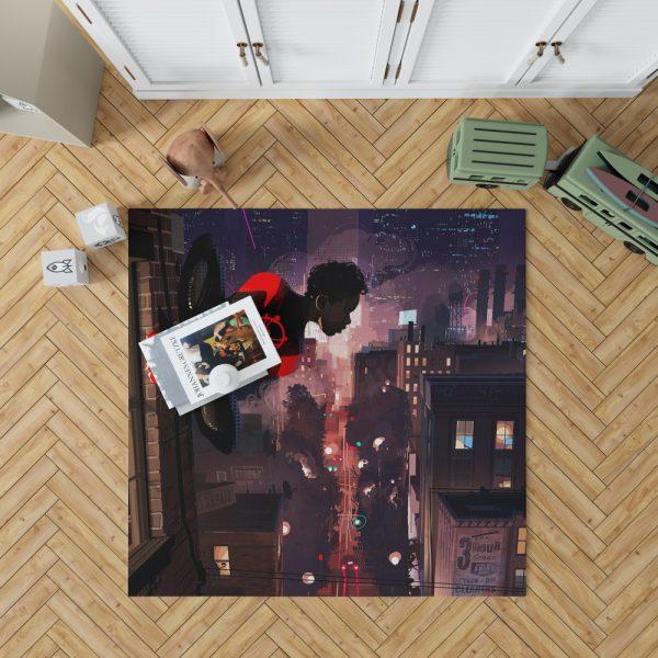 Spider-Man Into The Spider-Verse Movie Marvel Comics Miles Morales Bedroom Living Room Floor Carpet Rug 1