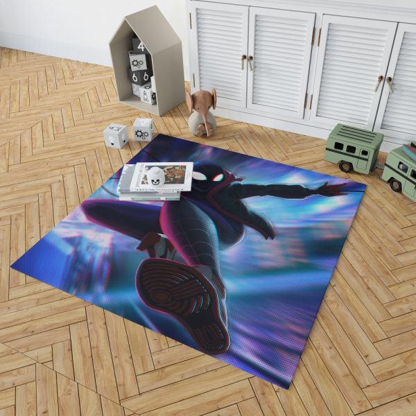 Spider-Man Into The Spider-Verse Movie Miles Morales Bedroom Living Room Floor Carpet Rug 2