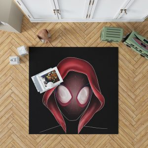Spider-Man Into The Spider-Verse Movie Miles Morales MCU Bedroom Living Room Floor Carpet Rug 1