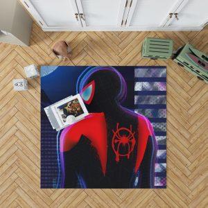Spider-Man Into The Spider-Verse Movie Miles Morales Marvel Comics Bedroom Living Room Floor Carpet Rug 1