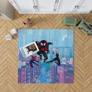 Spider-Man Into The Spider-Verse Movie Miles Morales Spider-Gwen Bedroom Living Room Floor Carpet Rug 1