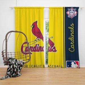 St. Louis Cardinals MLB Baseball National League Window Curtain