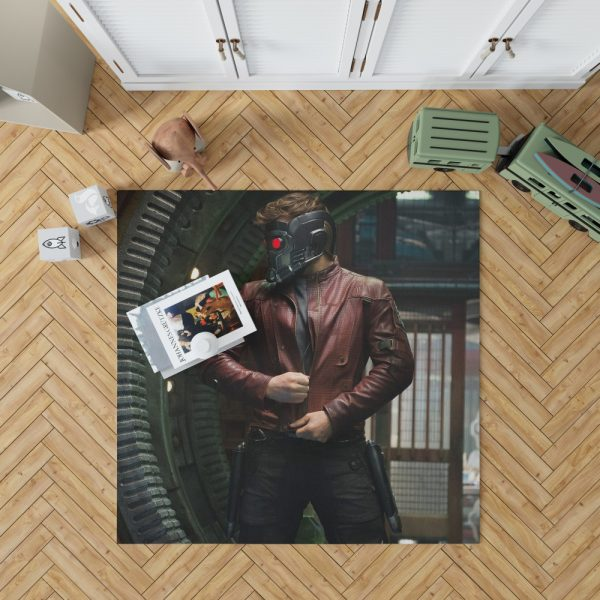 Star Lord Peter Quill Guardians of the Galaxy Movie Chris Pratt Bedroom Living Room Floor Carpet Rug 1