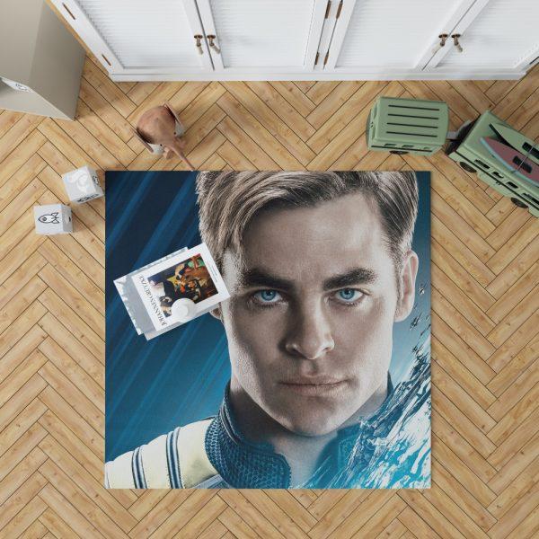 Star Trek Beyond Movie Chris Pine James T Kirk Bedroom Living Room Floor Carpet Rug 1
