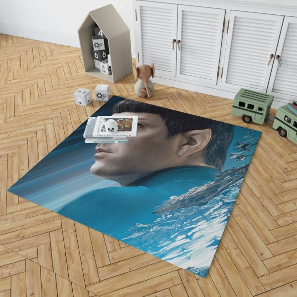 Star Trek Beyond Movie Spock Zachary Quinto Bedroom Living Room Floor Carpet Rug 2