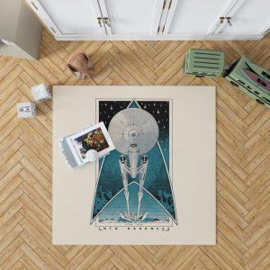 Star Trek Into Darkness Movie Starship USS Enterprise NCC-1701 Bedroom Living Room Floor Carpet Rug 1