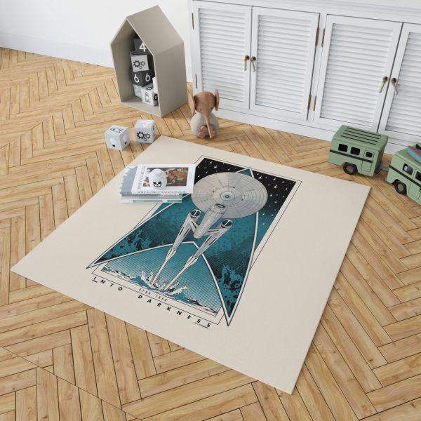 Star Trek Into Darkness Movie Starship USS Enterprise NCC-1701 Bedroom Living Room Floor Carpet Rug 2