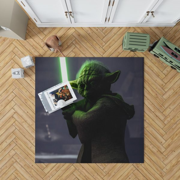 Star Wars Battlefront II 2017 Movie Yoda Bedroom Living Room Floor Carpet Rug 1