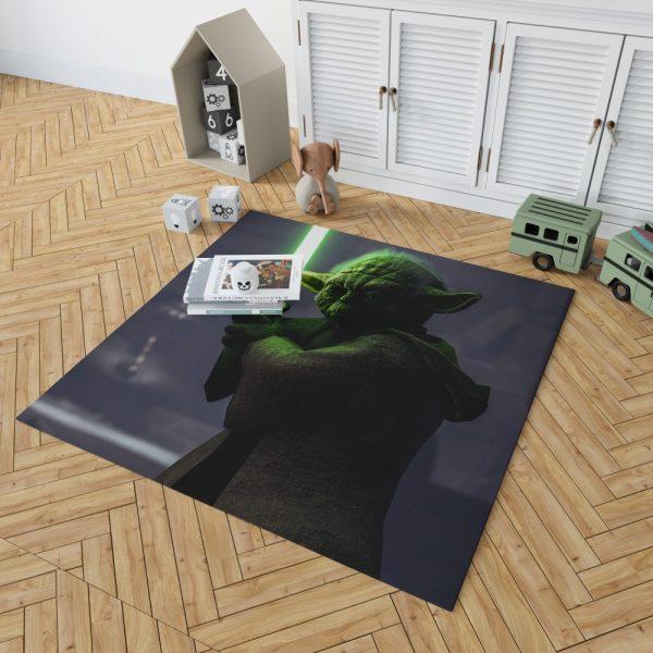 Star Wars Battlefront II 2017 Movie Yoda Bedroom Living Room Floor Carpet Rug 2