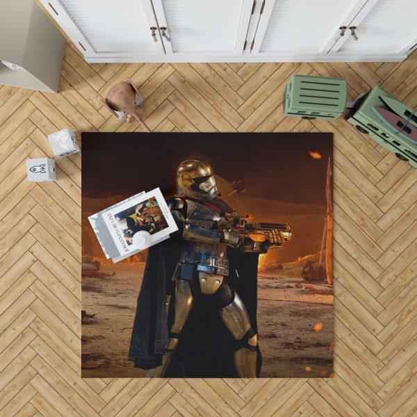 Star Wars Episode VII The Force Awakens Movie Captain Phasma Bedroom Living Room Floor Carpet Rug 1