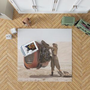 Star Wars Episode VII The Force Awakens Movie Daisy Ridley Rey Star Wars Bedroom Living Room Floor Carpet Rug 1