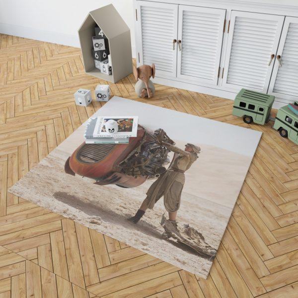 Star Wars Episode VII The Force Awakens Movie Daisy Ridley Rey Star Wars Bedroom Living Room Floor Carpet Rug 2