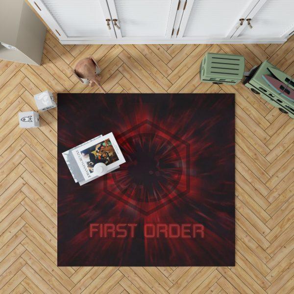 Star Wars Movie Black First Order Red Bedroom Living Room Floor Carpet Rug 1