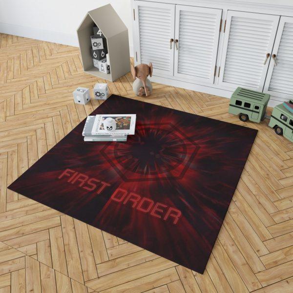 Star Wars Movie Black First Order Red Bedroom Living Room Floor Carpet Rug 2