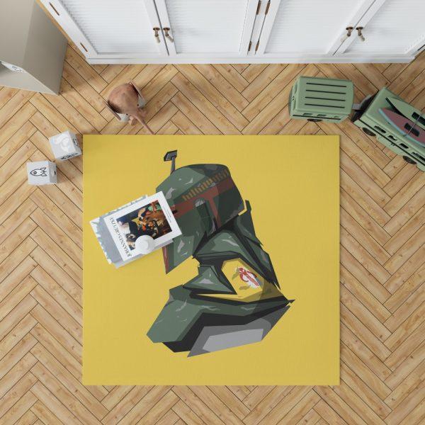 Star Wars Movie Character Boba Fett Bedroom Living Room Floor Carpet Rug 1