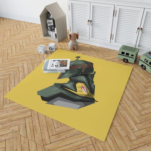 Star Wars Movie Character Boba Fett Bedroom Living Room Floor Carpet Rug 2